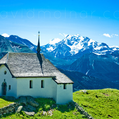 P037 swiss alps church