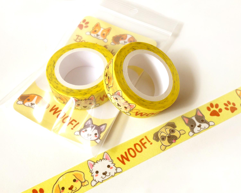 Cute Dogs Washi Tape Planner Decoration Kawaii Washi