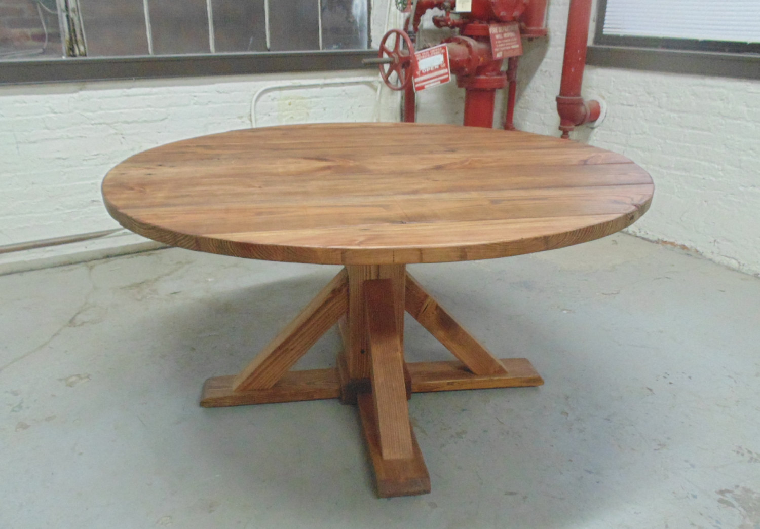 Washington Round Dining Table, Reclaimed Wood, Custom, Handcrafted ...