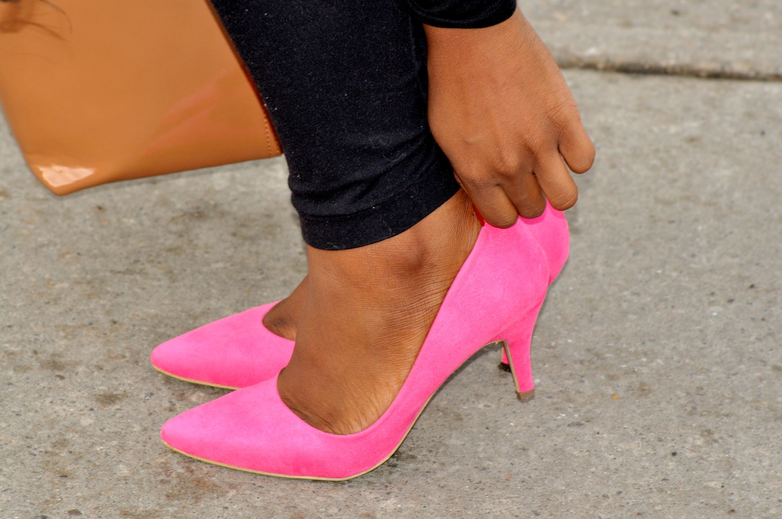 Pink Low Heels - Is Heel