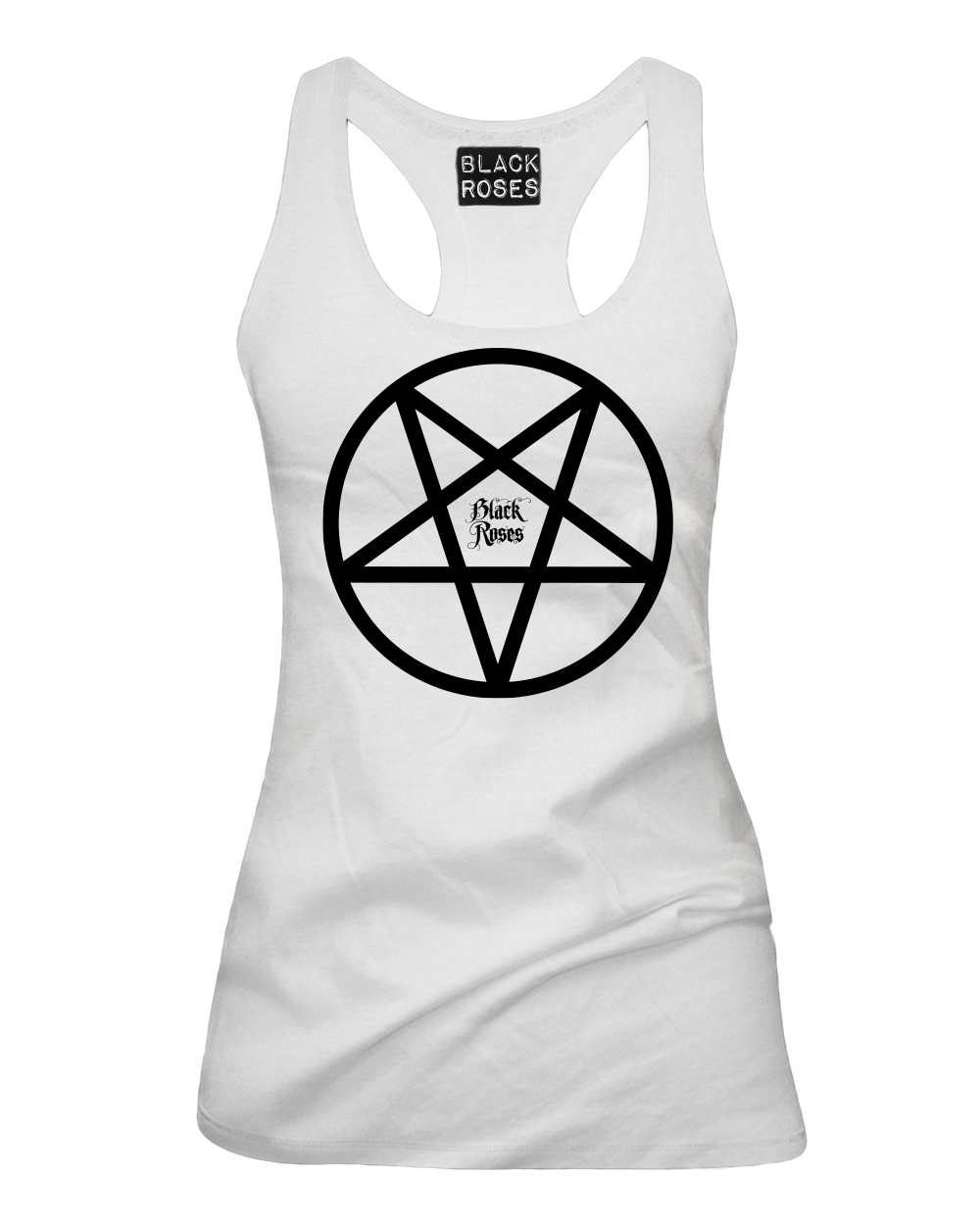 Back in black t shirt - Back In Black Pentacle Tank Top White