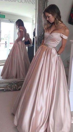 white a line prom dress