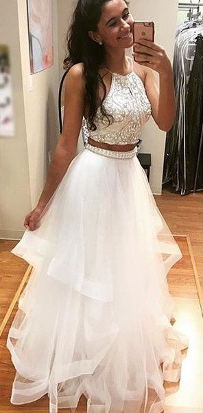 Sexy white prom dresses