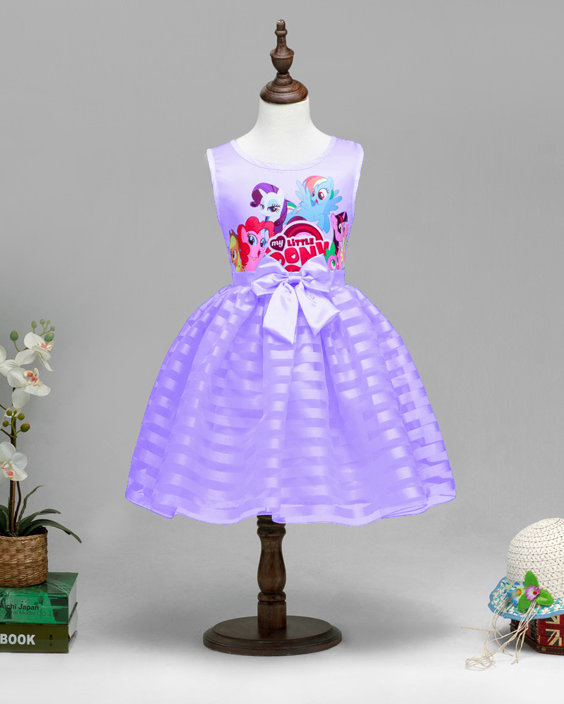 Girls Purple My Little Pony Dress Kids Princess Childrens Summer ...