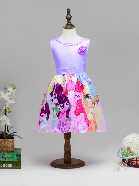 princess my little pony dresses purple sleeveless birthday