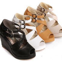Cuñas Kawaii negro,blanco,beige o marron \ Kawaii Wedges black,white,beige or brown LS097