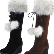 Botas Altas Pelo negro o marron / High Boots Fur black or brown LS113