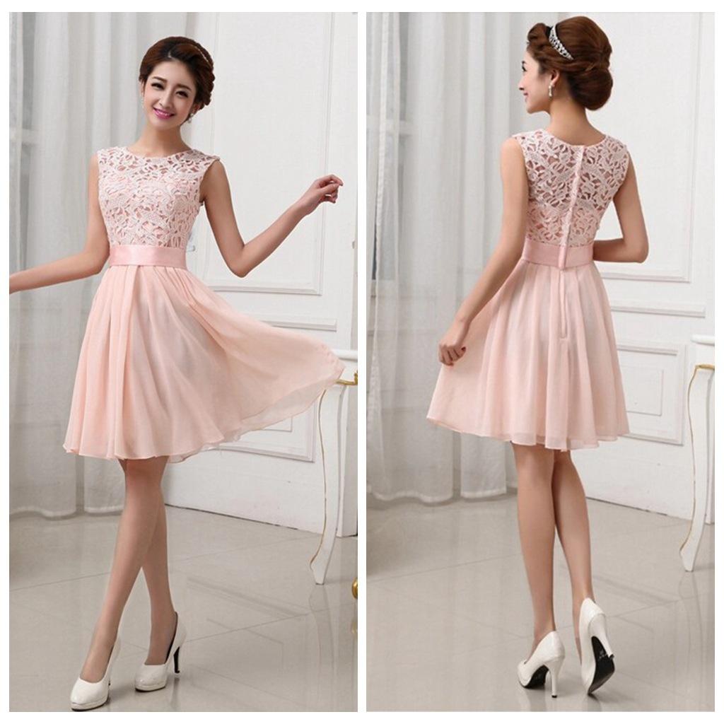 H33 Lace bridesmaid dresses, short bridesmaid dresses, chiffon ...