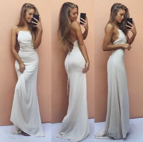 Simple Formal White Dresses