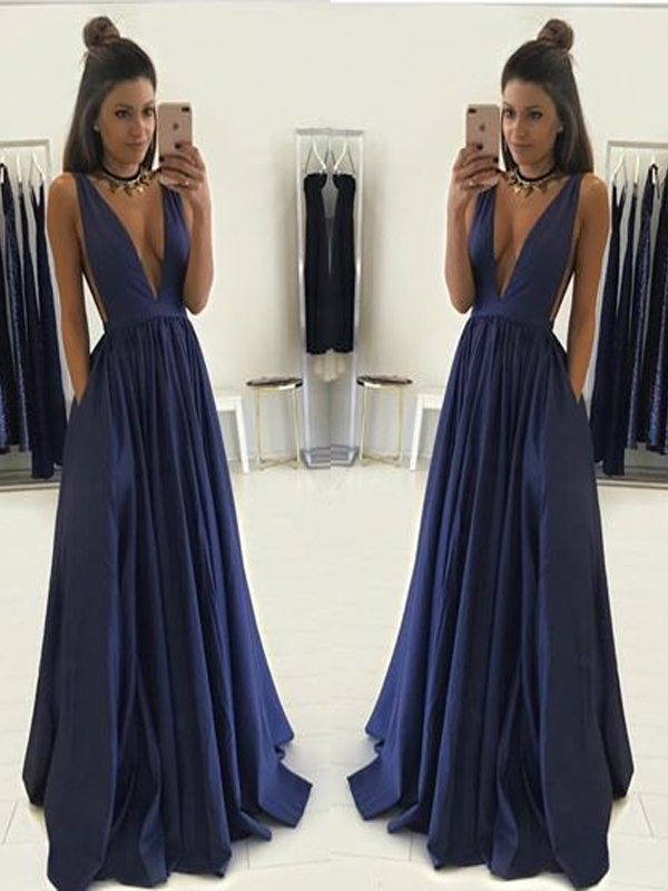 Deep V-Neck Prom Dress, Prom Dress Ball Gown,Formal Evening Prom ...