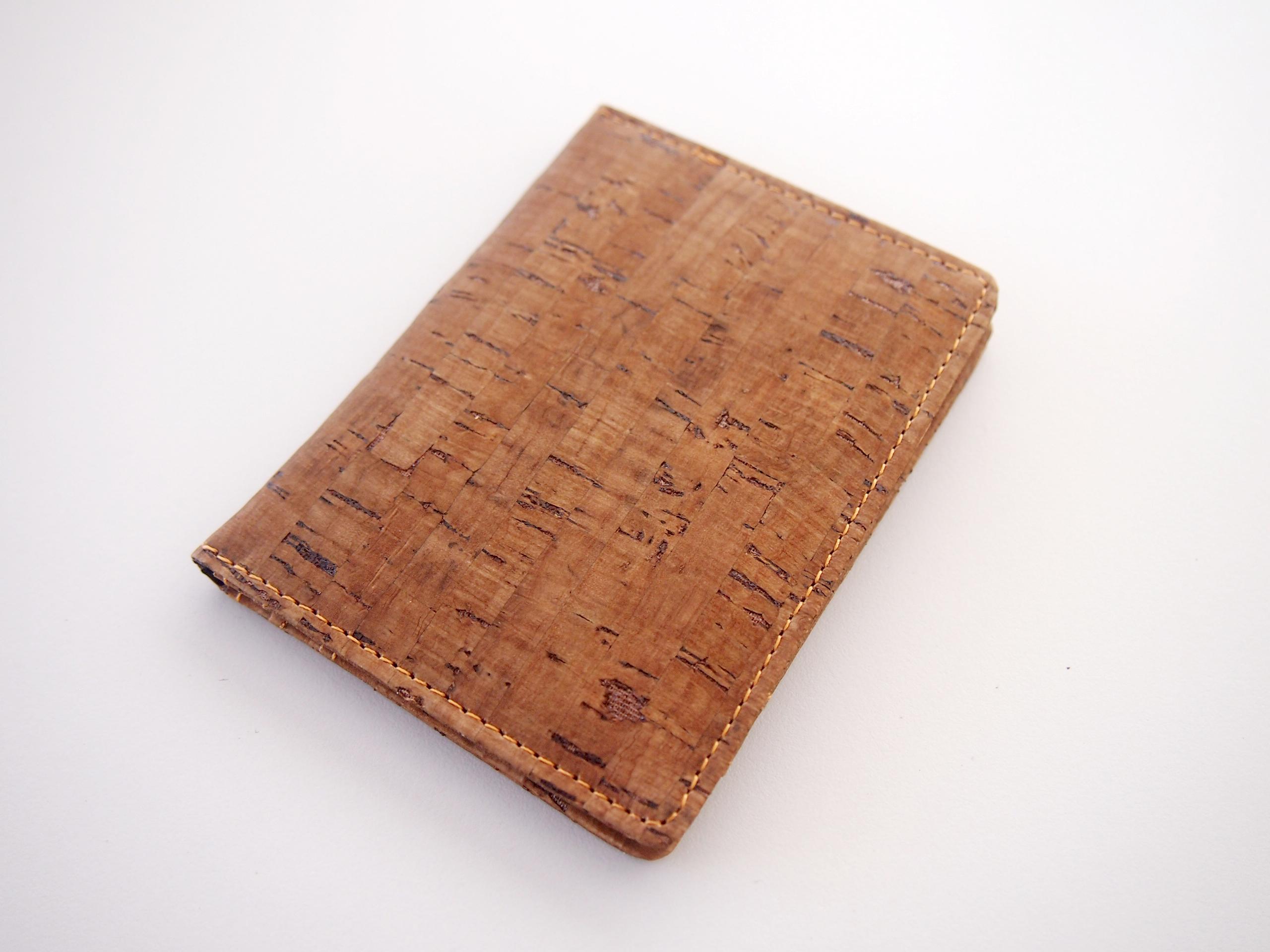 Dark Cork Bifold Card Holder Business Card Holder Card Wallet Card ...
