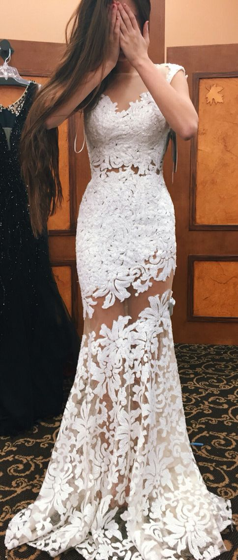 Mermaid Prom Dress,white Prom Dress,New Arrival Prom Dress,High ...