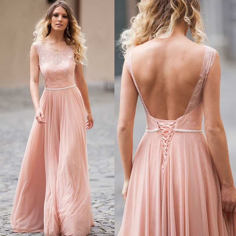 XP268 Charming Prom Dress, Pink Prom Dress, Long Prom Gown, Blush ...