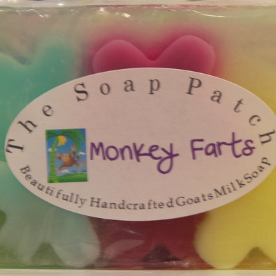 Monkey farts handcrafted goats milk soap