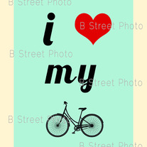 I Love My Bicycle Print