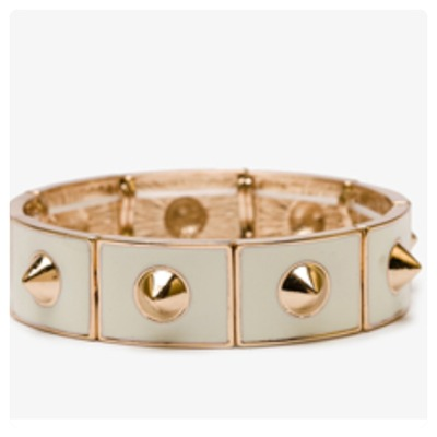 Gold / cream spike bracelet