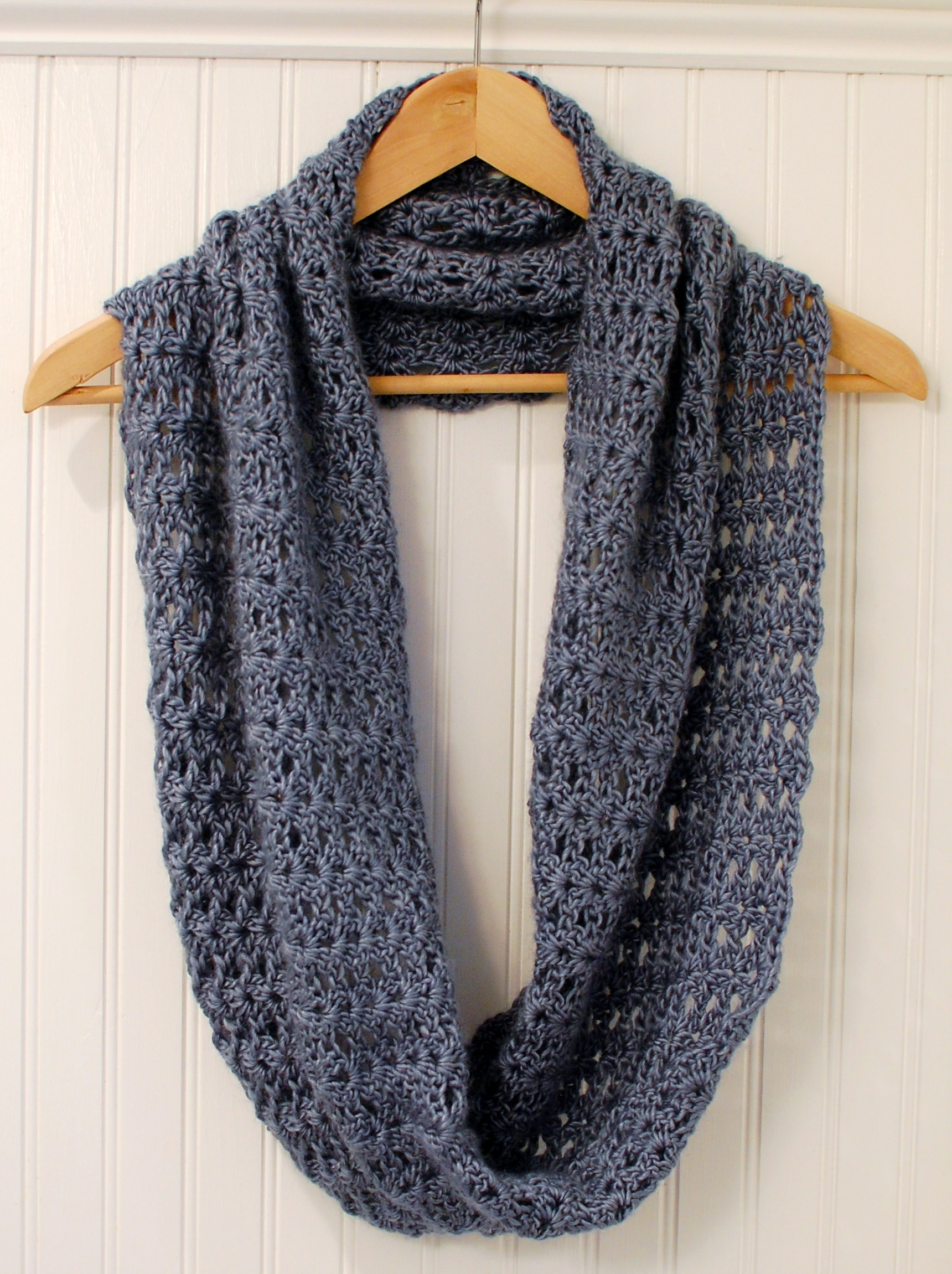 Crochet Pattern  Mobius Infinity Scarf  Wrap includes instructions  How To Crochet Infinity Twist Wrap
