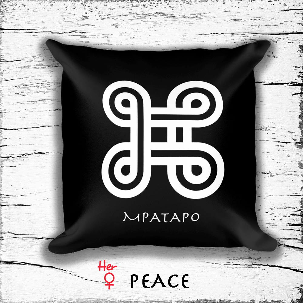 Square Pillow With Woman Empowerment Symbols Symbol Of Peace