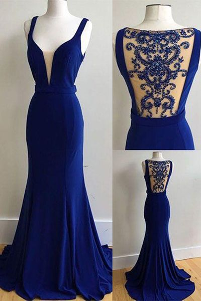 Royal Blue Prom Dress, Prom Dresses,Graduation Party Dresses, Prom ...