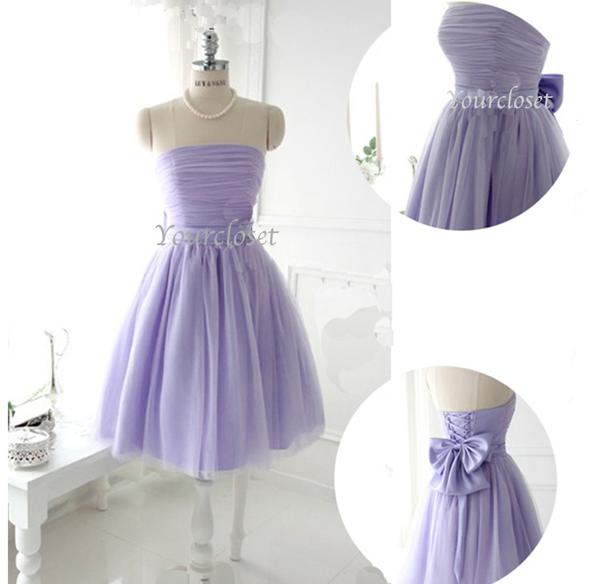 Light purple bridesmaid dresses short hairstyle 2013 for Light purple wedding dress