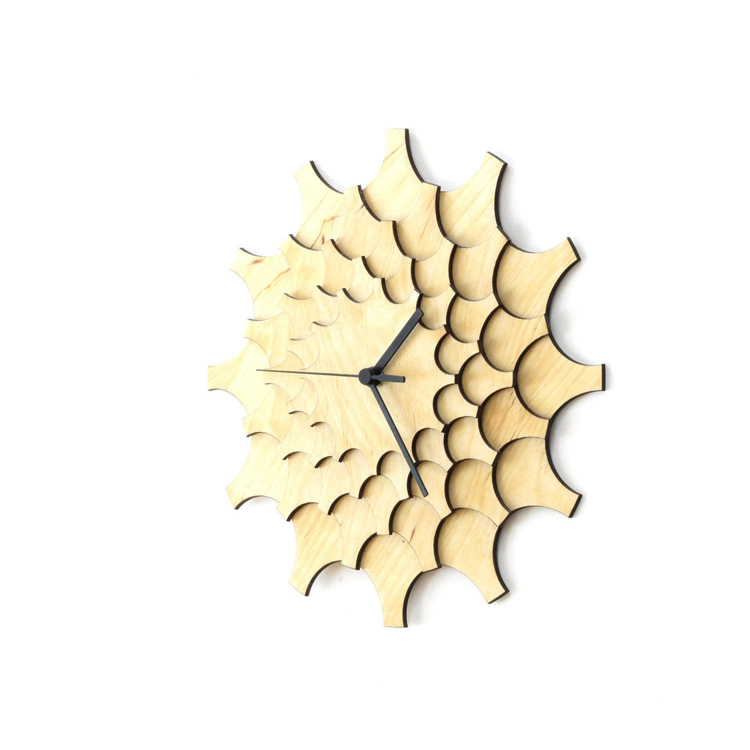 Cogwheel - unique stylish wall clock made of wood, a wall art ...