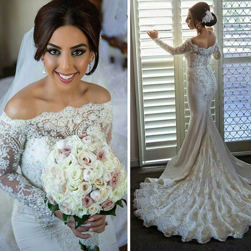 Mermaid Wedding Dress With Sleeves,Dresses For Brides,Bridal Gown ...