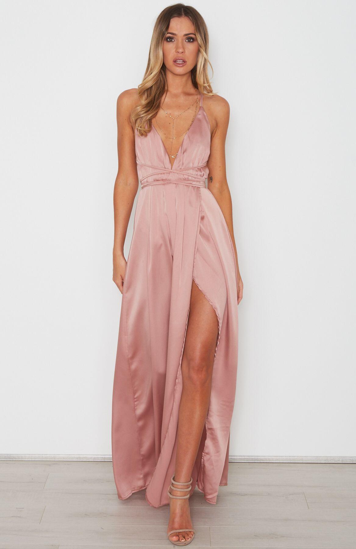 Sexy V-Neck Slit Side Prom Dress,SpaghettI Strap Backless Prom ...