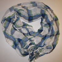 Blue, Green, White scarf