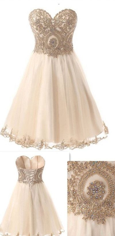 Champagne Homecoming Dresses