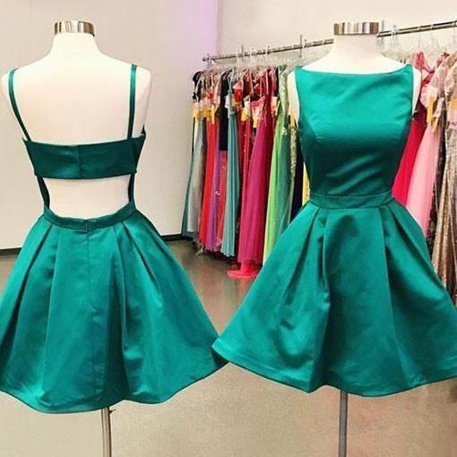 U0038,Cute A Line Green Short Prom Dress,2017 Homecoming Dress,Green ...