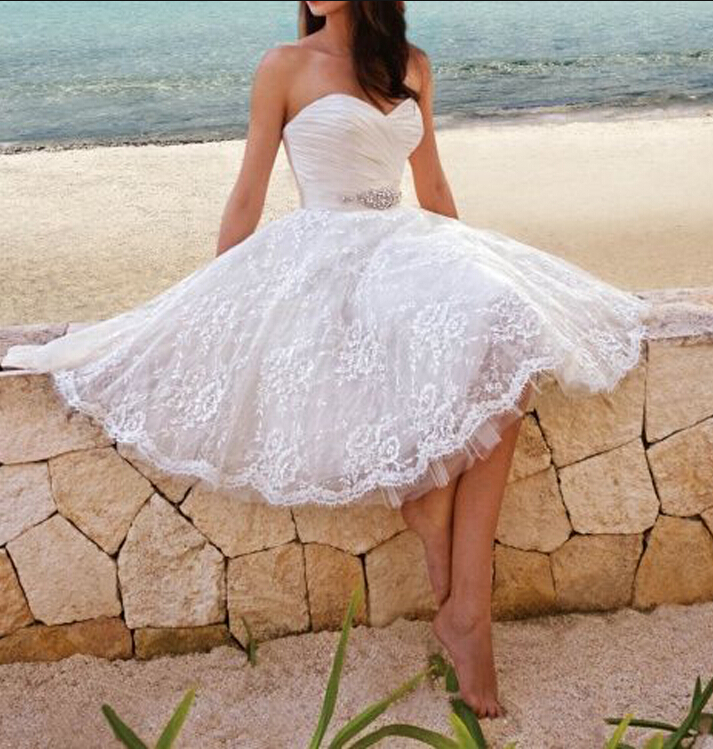 Short Ivory Prom Dress, Ivory Homecoming Dresses,Lace Beach Wedding Dresses,  Short Prom