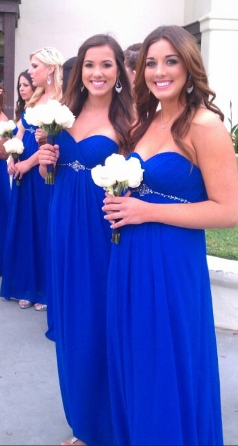 Sweetheart Bridesmaid Dresses,Royal Blue Bridesmaid Dresses,Beading ...