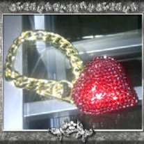 Red Heart Toggle Bracelet
