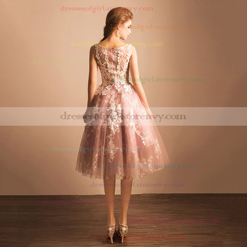 Cheap Homecoming Dresses, Ball Gown Scoop Neck Short Prom Dresses ...