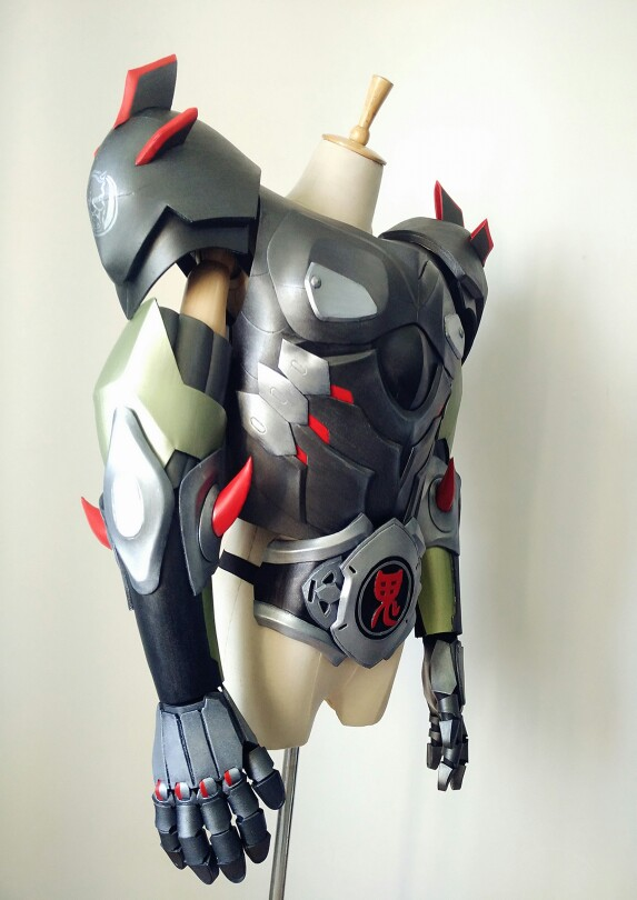 Overwatch Genji Skin Oni Cosplay Armor Costume for Sale on ...