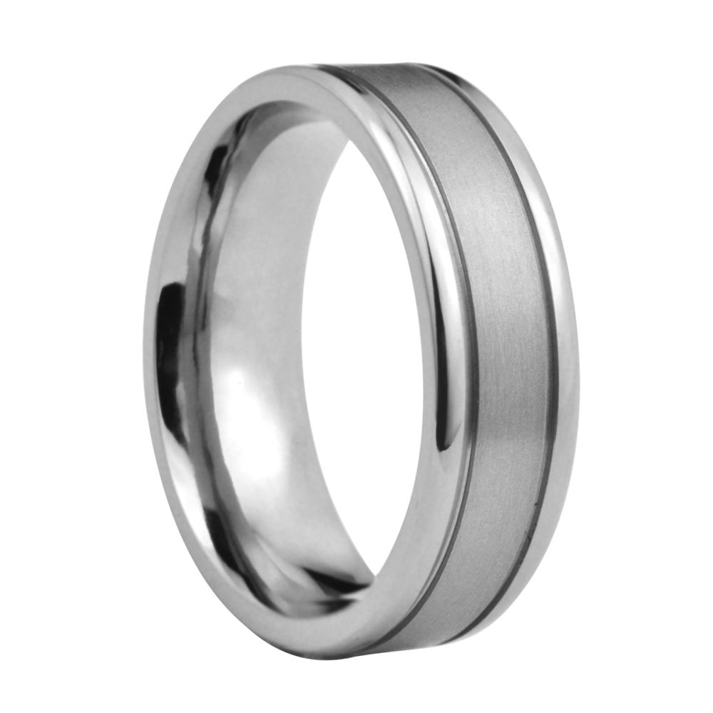 Men's And Women's Beaded Patterned Edge 6mm Titanium Wedding Band: Anium Wedding Ring For Women At Websimilar.org