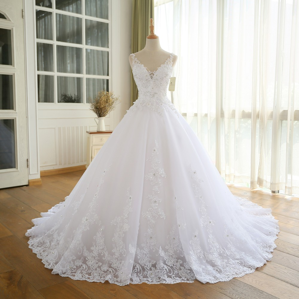 AM361 Gorgeous Ball Gown Wedding Dress With Lace,Princesa Vintage ...