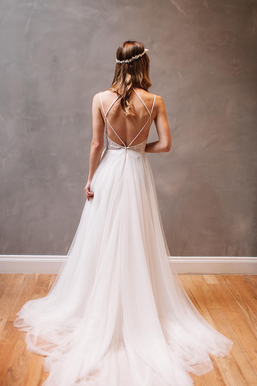 F285 Straps Long White Tulle Wedding Dress,Cheap Tulle Wedding ...