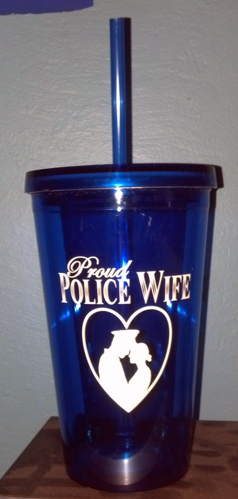 Designs proud police wife tumbler online store powered by storenvy