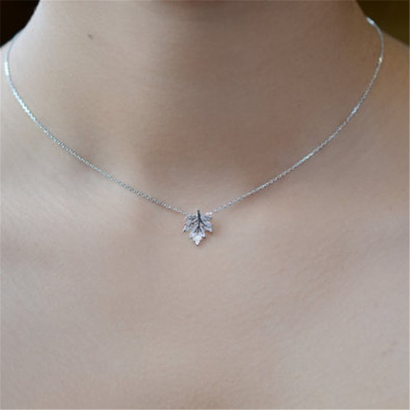 Dainty maple leaf necklace pendant valley witch online store dainty maple leaf necklace pendant aloadofball Gallery