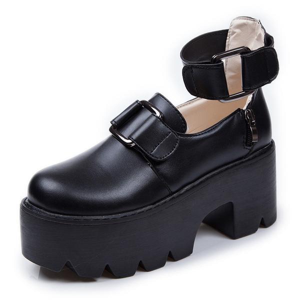 046d3ae3d86a9f Black punk platform shoes · Women Fashion · Online Store Powered by ...