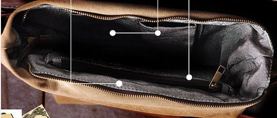 Fashion Leather Canvas Bag Briefcase Messenger Bag 14' Laptop Bag ...