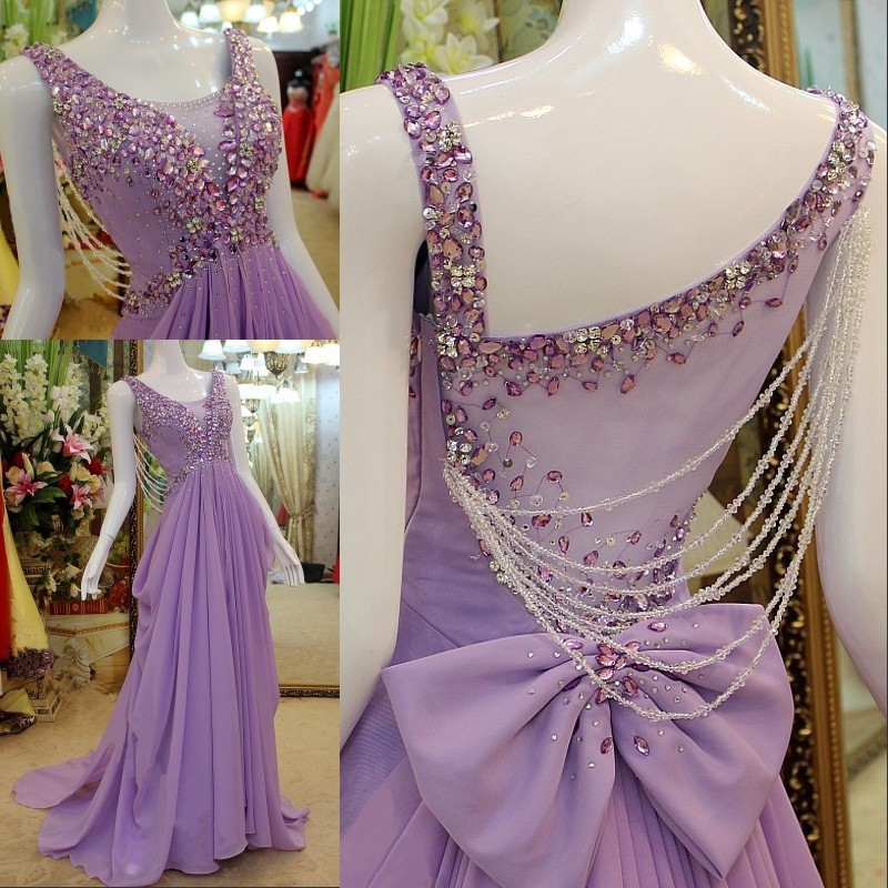 Fashion Dresses Sexy Beaded Chiffon Evening Party Dress Sexy Prom ...