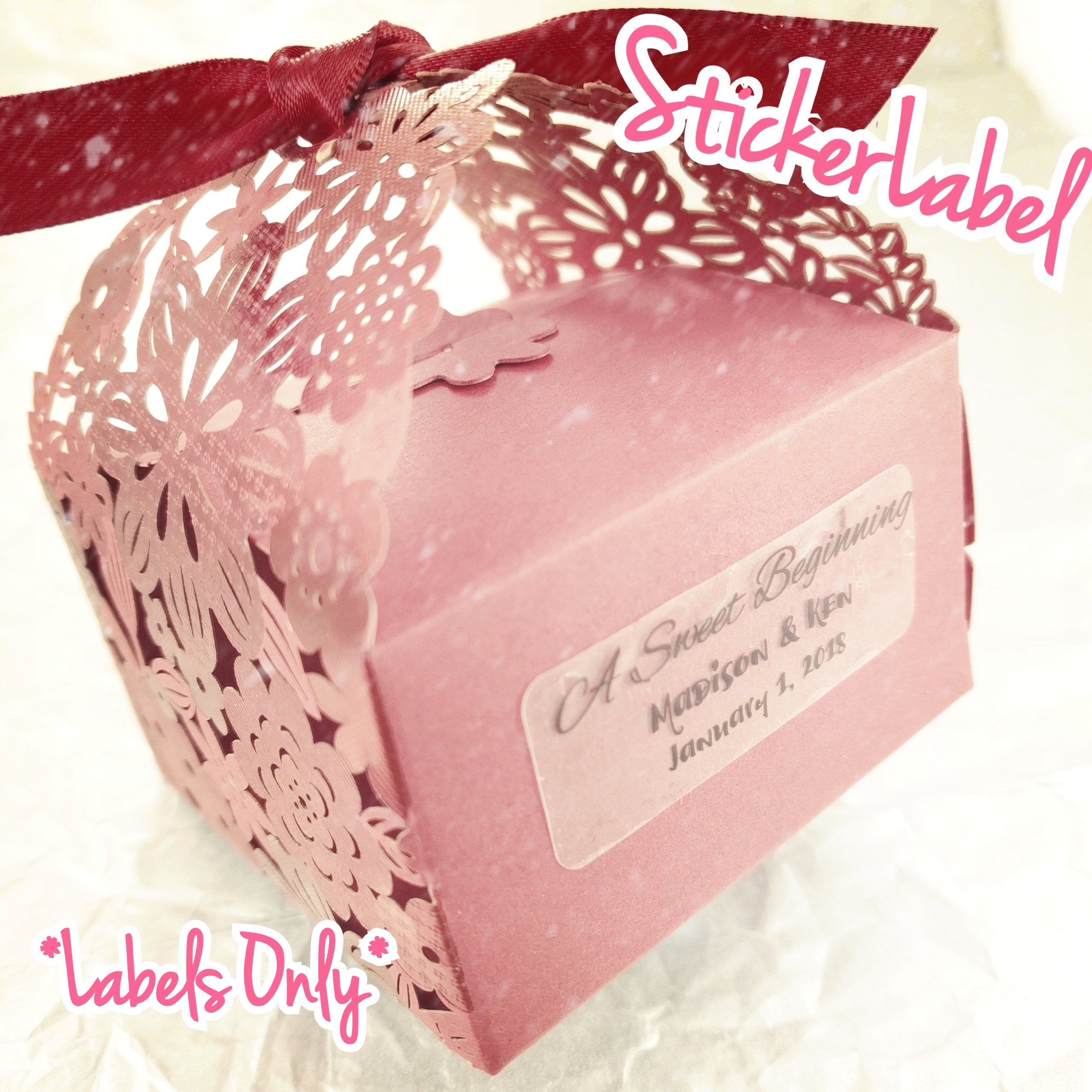 Personalized Sticker Labels For Wedding Favors ✓ Nangguk Sticker