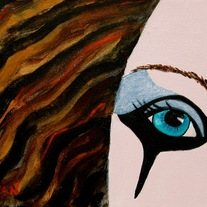 """Kimberly's One Eye II"" Painting by Kimberly's Mom - Limited Original Reproduction (of 20)"