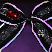 Double Layer Sequin Trimmed Bow