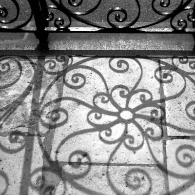 Shadow swirls at the old exchange