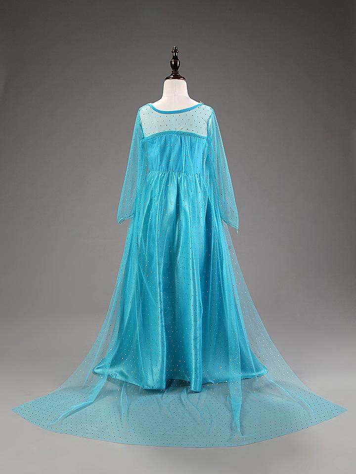 NEW Girls Costume Cosplay Party Princess Frozen Elsa Anna Fancy ...
