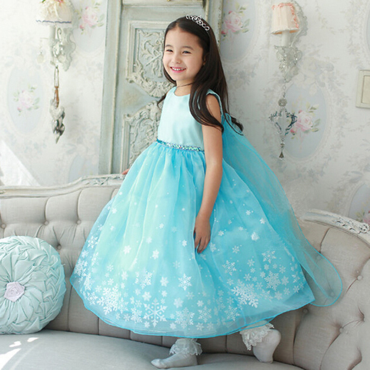 Girls Snow Queen Costume Frozen Elsa Dress Christmas Princess Dress Up #Z0107 - Thumbnail 1 ...  sc 1 st  kidscollections - Storenvy & Girls Snow Queen Costume Frozen Elsa Dress Christmas Princess Dress ...