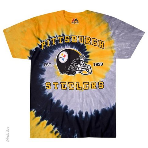 Officially licensed n f l pittsburgh steelers spiral tye for Pittsburgh t shirt printing